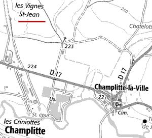 Localisation de Champlitte