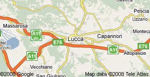 Localisation de Lucques