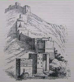 reproduction ancienne des remparts Anticoche