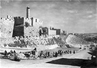 Jerusalem remparts Ouest par Winckelsen en 1918