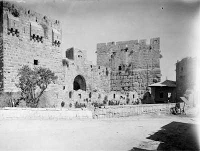 Jerusalem Tour de David par Winckelsen en 1918