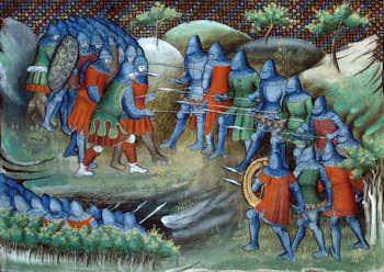 Bataille de Rosebecque de Jean-Froissart Bnf