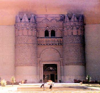 Façade de qassr (chateau) Al-Hyr Al-Gharbi