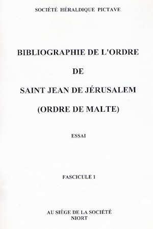 Bibliographie de l'Ordre de Saint-Jean de Jérusalem