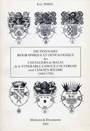 Chevaliers de Malte de la vénérable Langue d'Auvergne