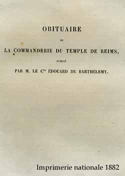 Obituaire de la Commanderie du Temple de Reims