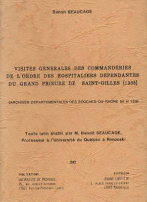Visites générales des commanderies de Saint-Gilles (1338)