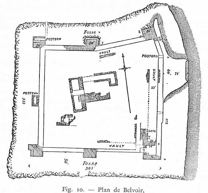 Plan du château de Belvoir