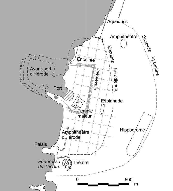 Plan de Césarée Maritime
