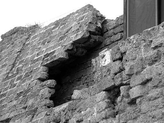 Césarée, vue du sommet du talus
