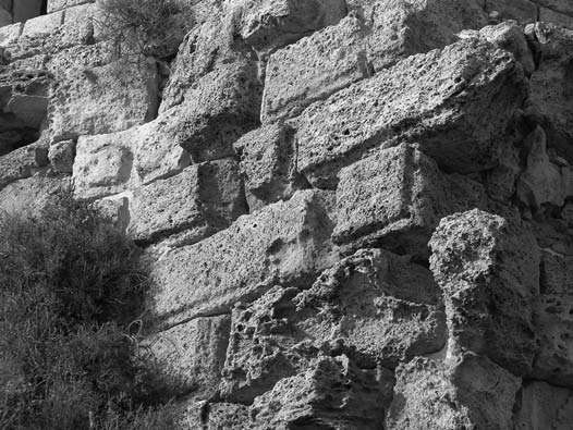 Césarée, vue du parement