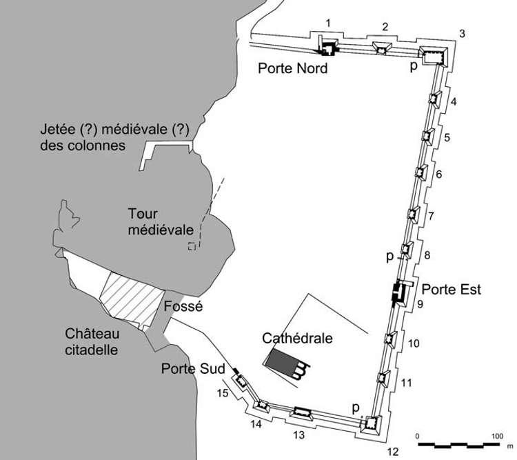 Plan de la Césarée médiévale
