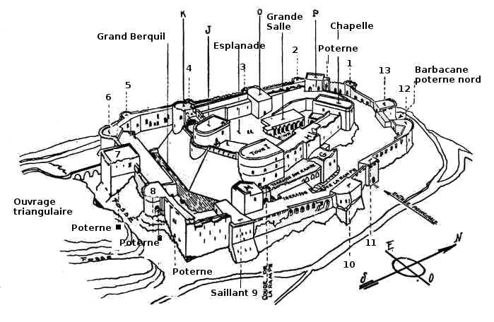 Château Le Crac des Chevaliers, saillant 10