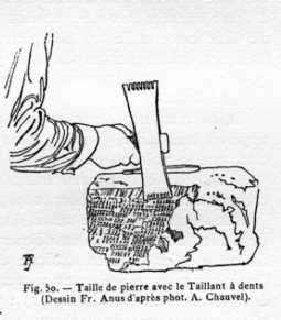 Taille de pierre avec le Taillant