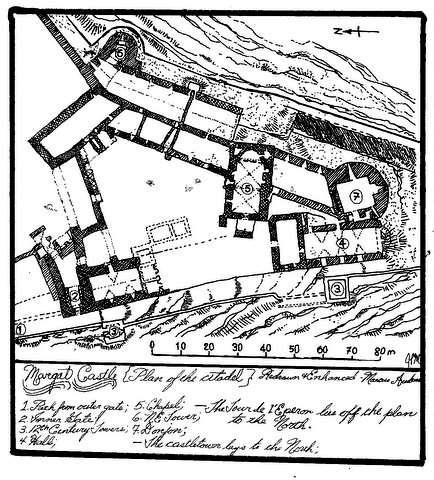 Plan du château de Margat