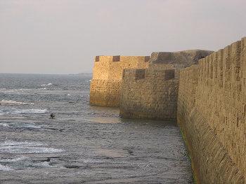 Fortifications front de Mer Acre Akka Akko