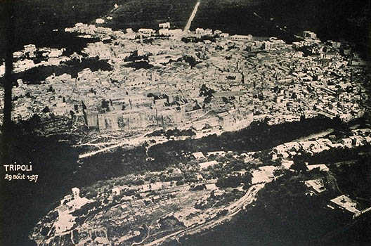 Vue de la ville de Tripoli et du château de Saint-Gilles