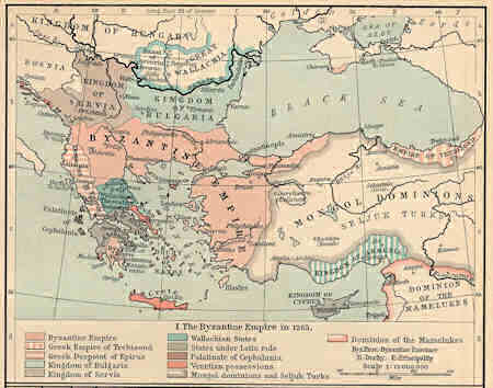 The Byzantine Empire in 1265