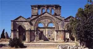 Vestiges du château de Deir Simaan ou Saint-Siméon
