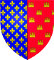 Blason de Alphonse comte de Poitiers