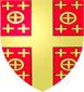 Blason de Pierre II de Courtenay