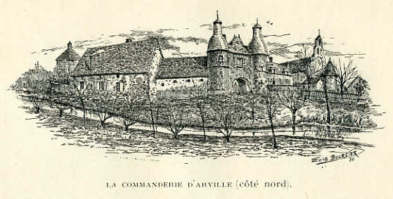 Commanderie d'Arville, côté Nord