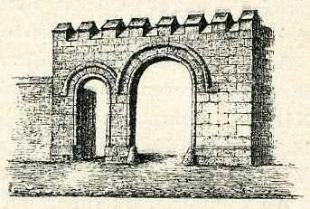 Porte d'entrée d'un fief de Sours