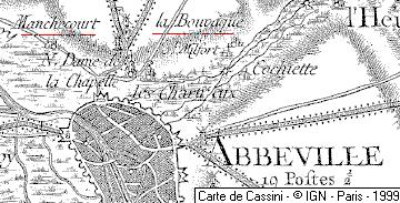 Plan de la ville d'Abbeville au XVIe siècle