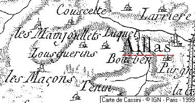 Localisation d'Aillas