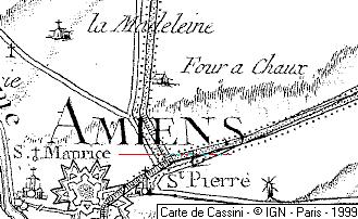 Ville d'Amiens au XVIe siècle