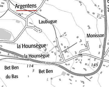 Localisation d'Argentens