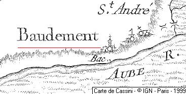 La terre et seigneurie de Baudement