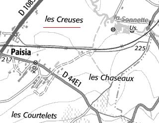 Fief du Temple de La Creuse sur Paisia