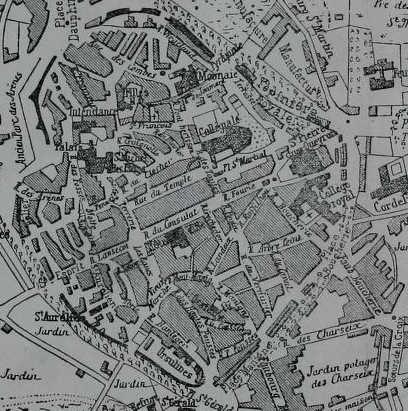 Plan de Limoges en 1785