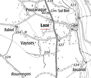 Domaine du  temple à Loze