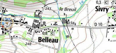 Blason de Belleau