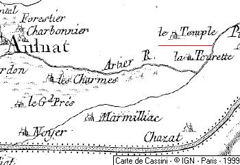 Le Temple, membre de la commanderie de Chanonat