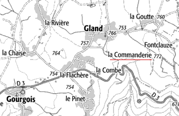 Maison du Temple de Saint-Maurice-en-Gourgois ou Gland