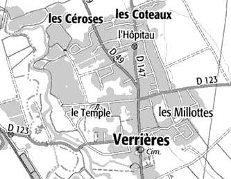 Localisation Villers-les-Verrières