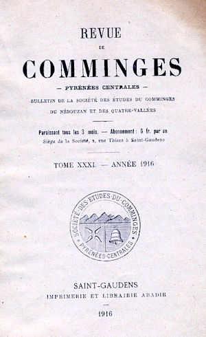 Revue de Comminges année 1916