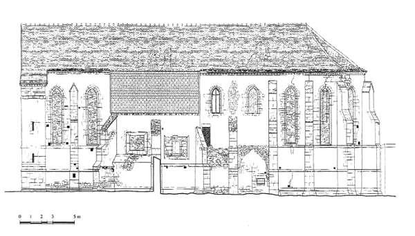 Chapelle, Elévation sud