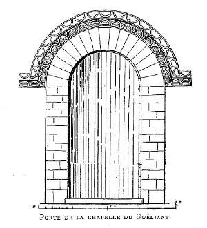 Guéliant, porte de la chapelle