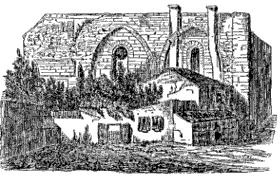 Plan mur nord de l'ancienne chapelle