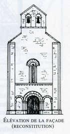 Elévation de la façade (reconstitution)