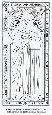 Pierre tombale du Frère Pierre de Liège