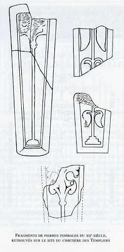 Fragments de pierres tombale du XIIe siècle