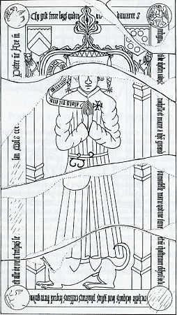 Plate-tombe du XVe siècle de Frère Loys Quélin