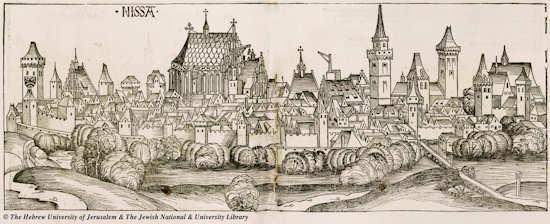 Reproduction de Nicée par schedel en 1493
