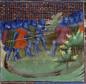 Bataille Otterburn par Jean-Froissart