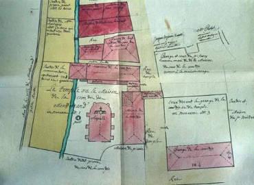 Plan de la Maison du Temple de Montferrand